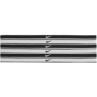Set van 6 Nike Swoosh getipte haarbanden
