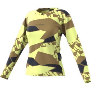 Dames-T-shirt met lange mouwen adidas Terrex Primeblue Trail Graphic