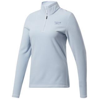 Dames fleece Reebok Outerwear Fleece Quarter-Zip