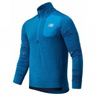 Sweater met halve rits New Balance warmterooster