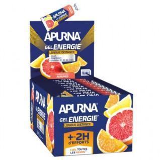 Set van 25 gels Apurna Energie longue distance agrumes - 35g